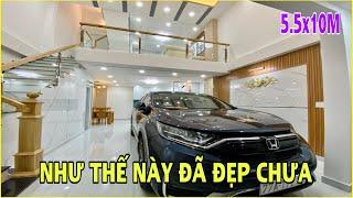 Bán nhà Gò Vấp 625   Cặp đôi nhà đẹp 5.5m x 10m thiết kế lững 3 lầu tặng kèm nội thất cao cấp