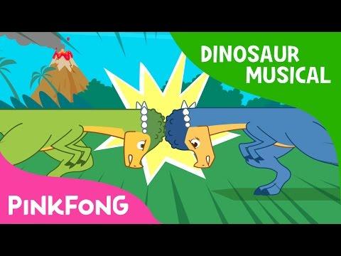 The Head-butting Master, Pachycephalosaurus   Dinosaur Musical   Pinkfong Stories for Children