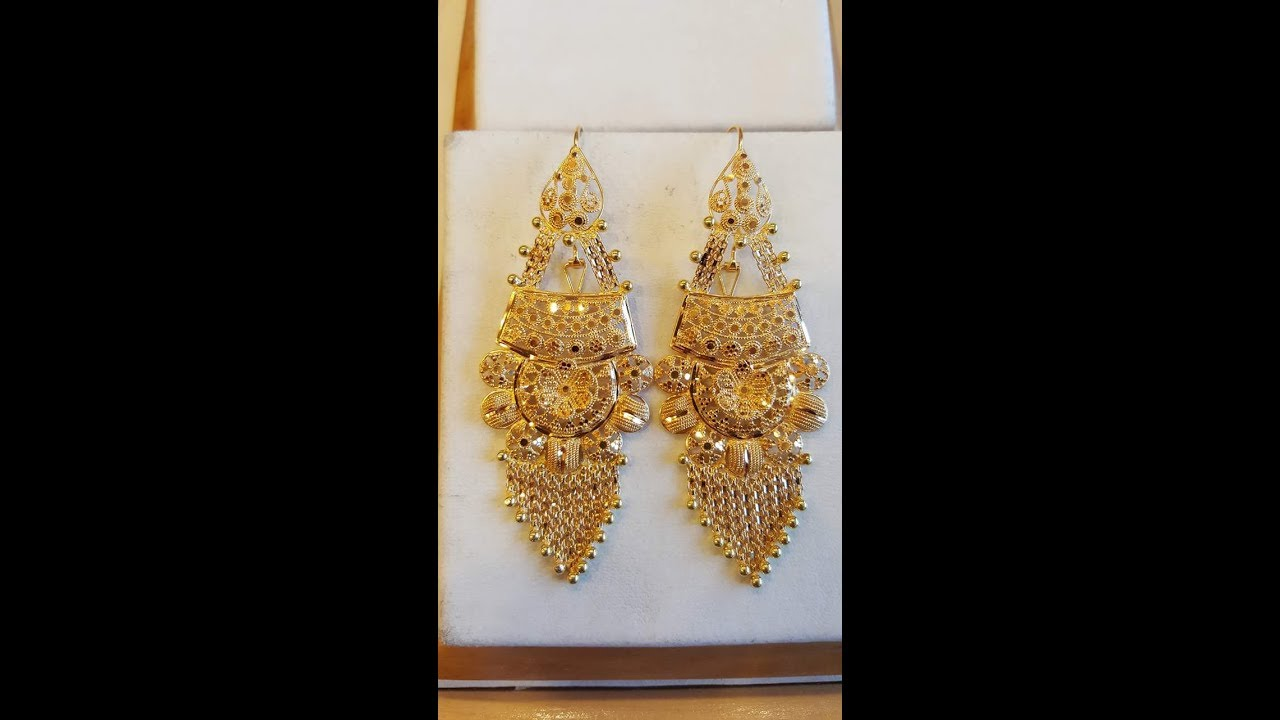 Earrings Designs in Pure Gold - YouTube