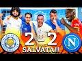 SALVATA!!! LEICESTER 2-2 NAPOLI | LIVE REACTION NAPOLETANI EUROPA LEAGUE HD