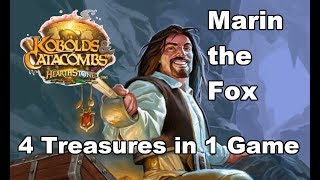 Marin the Fox - 4 Treasures in 1 Game [Hearthstone Kobolds & Catacombs Free Legendary Card]
