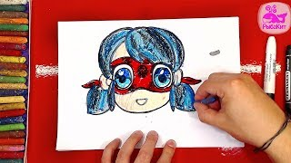 Как нарисовать Леди Баг / Уроки рисования How to draw Miraculous Ladybug