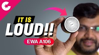 This Mini Bluetooth Speaker Will BLOW YOUR MIND!!! EWA A106 Review