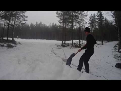 Ski Orienteering 2017 - preparing of tracks