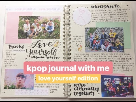 kpop journal with me: bts love yourself✨