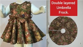 Double Layered Umbrella Frock Cutting & Stitching