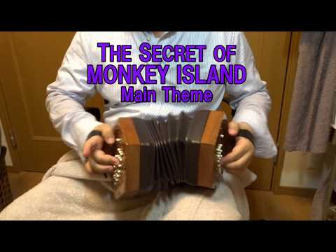 Monkey Island Theme on Anglo concertina コンサーティーナ