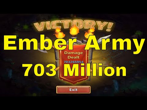 Castle Clash Ember Army 703 Million Full Team And Setup