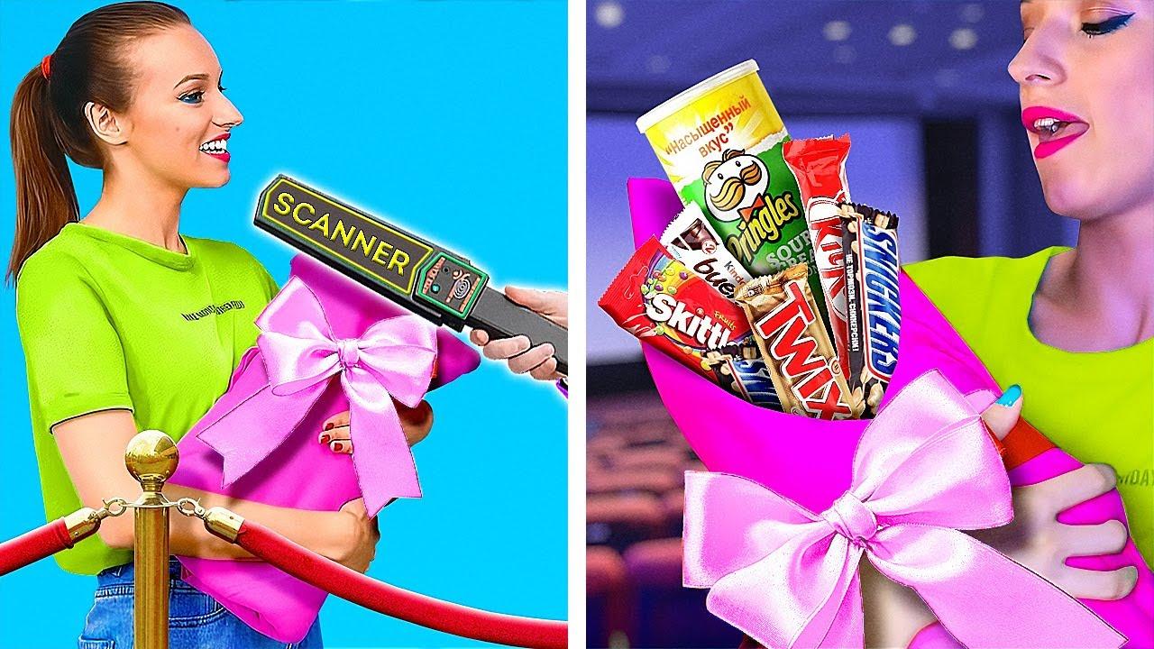 超賢い!食べ物をこっそり持ち込方法8選 || 123 GO! GOLDのお菓子の持ち込み方