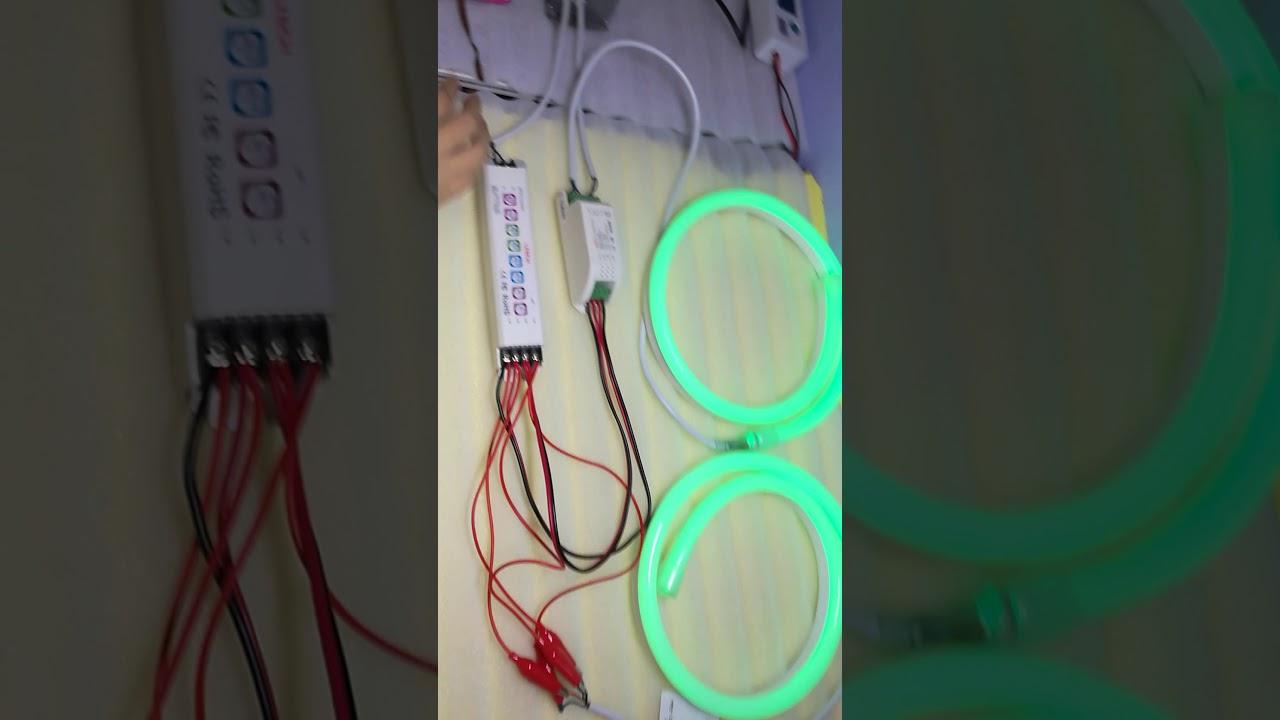 RGB NEON FLEX DMX control system wiring diagram - YouTube Neon L Wiring Diagram on neon walls, neon pumps, neon kitchen, neon glass, neon transformers,