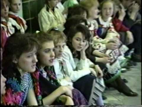 American and Belarusian (Soviet) teachers and students meet in 1990