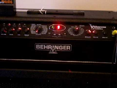 100 Amp Disconnect >> BEHRINGER V-AMPIRE(LX-1200) Mesa modeling. - YouTube