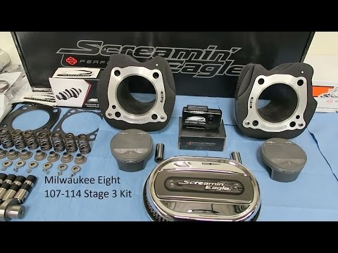 """Milwaukee 8 """"Stage III"""" Kit Installed │ 107 - 114 CI Time Lapse Build │ Review and Test Ride"""