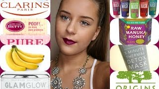 My Top 10 Face Masks (Clarins, Glamglow, Origins, DIY etc) Thumbnail