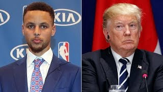Basketball American News - Update : Donald Trump rescinds WH invitation to Steph Curry And GSW