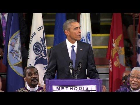President Obama eulogizes Rev. Clementa Pinckney