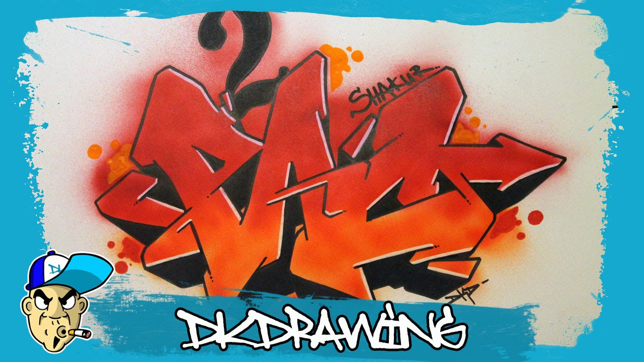 How to draw 2pac shakur graffiti letters step by step youtube