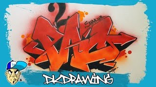 How to draw 2pac shakur graffiti letters step by step