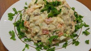 Салат с фасолью и куриной печенью. Салаты.