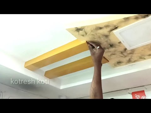 Mobile Shop Pop Ceiling Designs Wall Painting Smoke Design For Ceiling Youtube