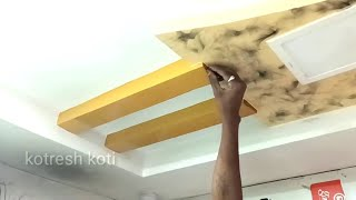 Mobile shop pop ceiling designs / wall painting smoke design for ceiling