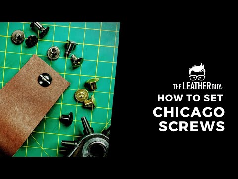 How To Set The Chicago Screw