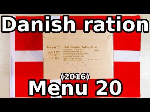 Danish ration - Menu 20 (2016)