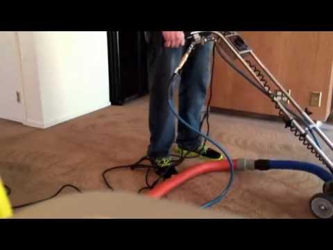 Carpet cleaning with a  carpet restoration  tool  carpet care 2000 Tracy Ca