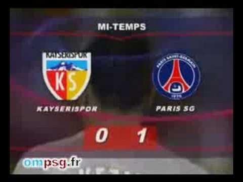 KAYSERISPOR PSG - UEFA 2008 1er tour aller