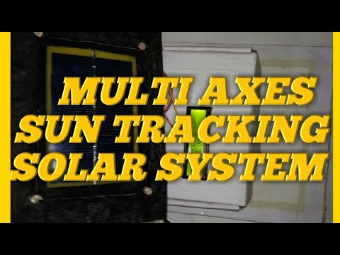 Multi Axes Sun Tracking Solar System || New Process Using Arduino UNO ||