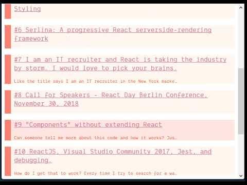 Infinite Scrolling in React using JavaScript Generator - DEV
