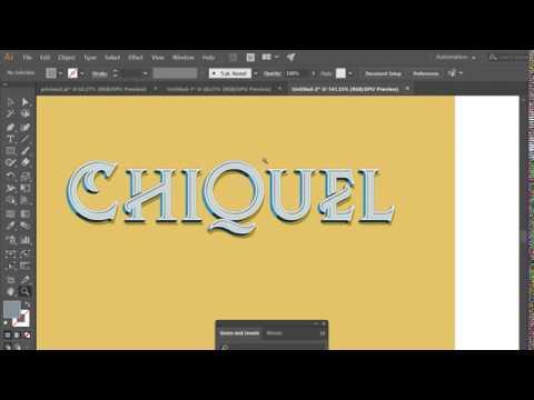 Vintage/Retro Text Effect Tutorial | Adobe Illustrator ChiQuel Font thumbnail