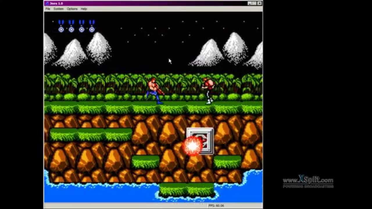 JNes <b>Contra</b> with <b>game Genie code</b>: Bonus Life for EVERY &#39;ENEMY ...