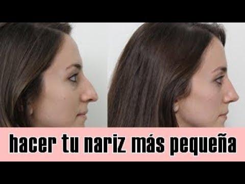 como hacer lucir la nariz mas pequena