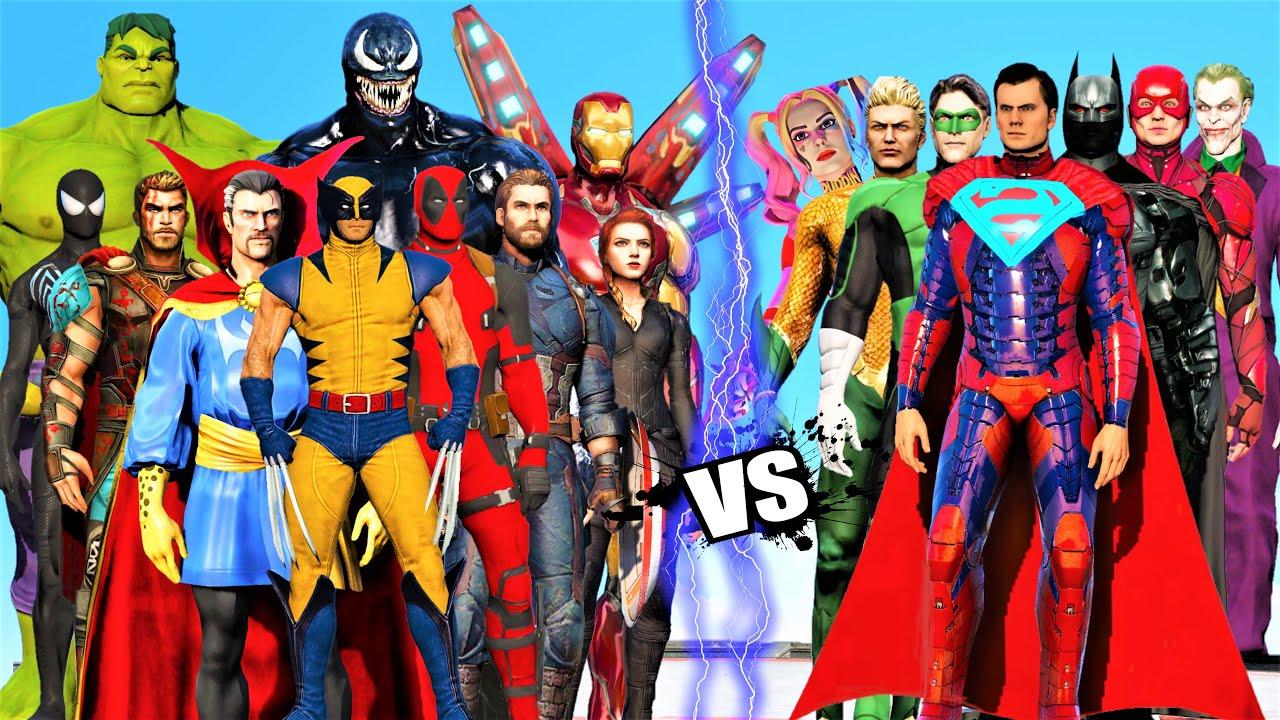 Download THE AVENGERS MARVEL COMICS VS JUSTICE LEAGUE DC COMICS   EPIC BATTLE