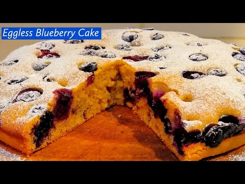 Melt in your mouth Eggless Blueberry Cake   blueberry cake recipe by Indian Yumm