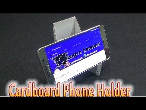 5 Amazing Life Hacks To Make Cardboard Phone Holder