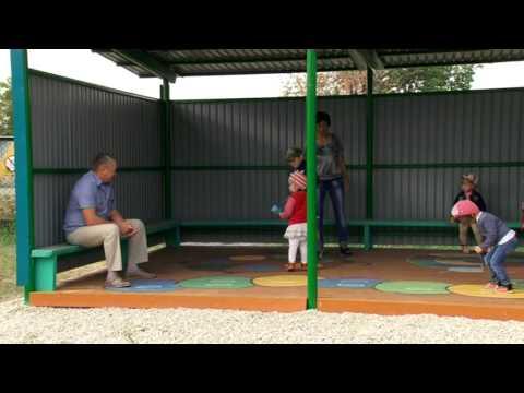 Беседка в детском саду в Аблязово