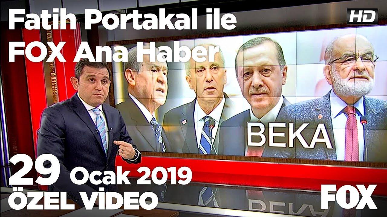 Fox Haber İzle, Siyasette beka tartışması... 29 Ocak 2019 Fatih Portakal ile FOX Ana Haber