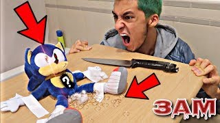 DO NOT CUT OPEN HAUNTED SONIC THE HEDGEHOG DOLL AT 3AM!! *OMG WHAT'S INSIDE SONIC*