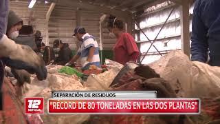 Separación de residuos: récord de 80 toneladas.