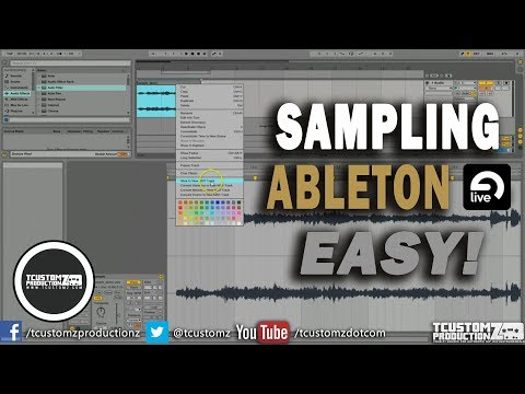 How To Sample In Ableton Live Tutorial Easy Part