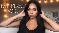 HOW TO PUT ON A WIG FOR BEGINNERS | MY FIRST WIG LITERALLY| MyfirstWig Hair review