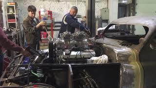 """Хот-Род """"ПОБЕДА"""" V8 8.2 л 800 л.с.: Первый запуск суперррр мотора..."""