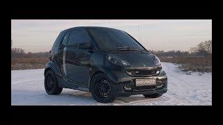 видео: Smart BRABUS 230км/ч? Заруба с Yamaha Raptor и Panamera Turbo.