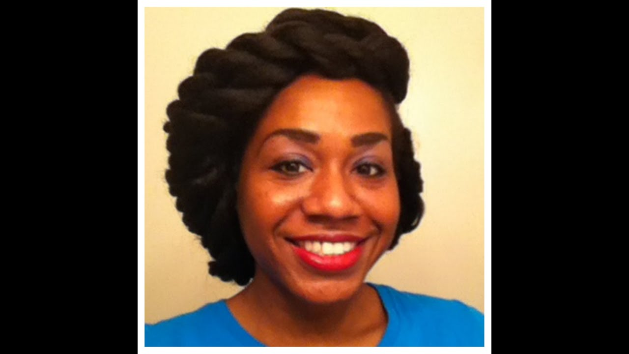 Crochet Marley Hair: Two Strand Twist Updo - YouTube