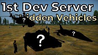 Hidden vehicles in Update Ground Breaking 1st Dev Server