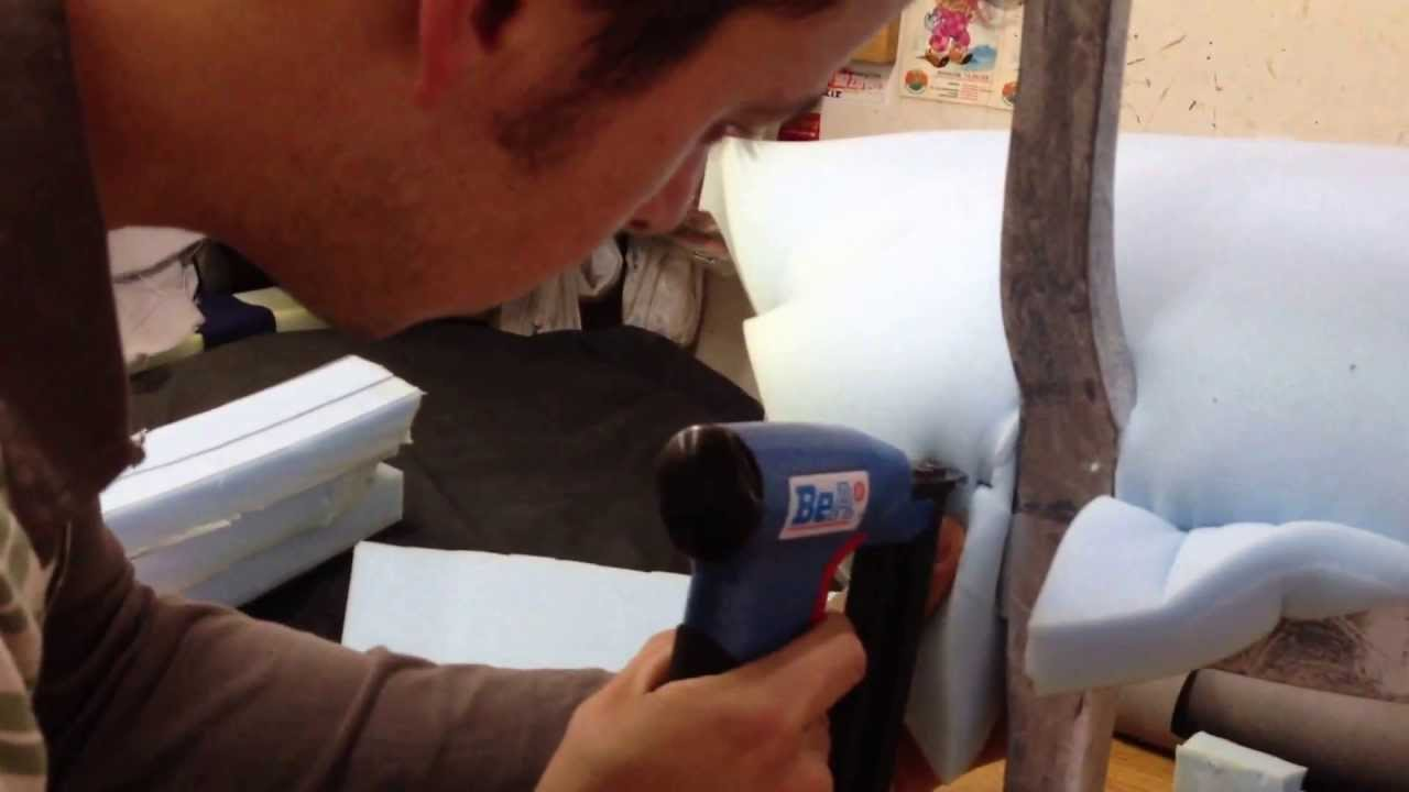 como tapizar una silla youtube