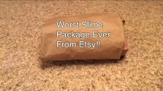 Worst Slime Package Ever From Etsy!!