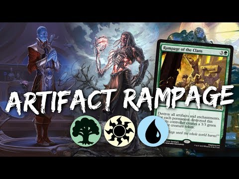 ARTIFACT RAMPAGE [MTG Arena] | Bant Rampage of the Clans Artifact Deck in  RNA Standard